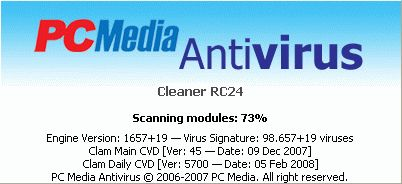 PCMAV Plus ClamAV Virus Database