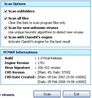 PCMAV +ClamAV